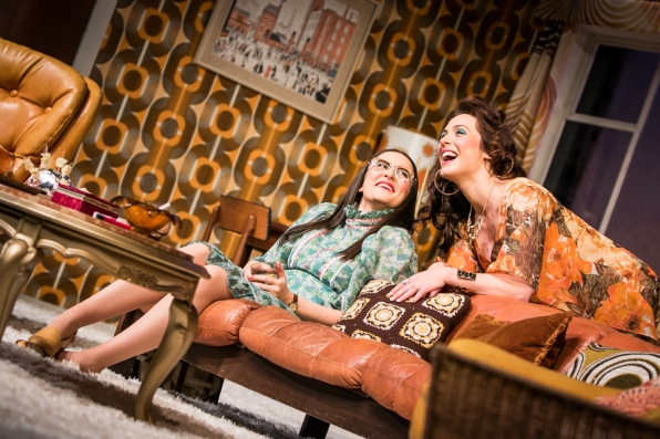 Left to right. Brigid Shine as Angela and Roisin Gallagher as Beverly in Abigail's Party at the MAC, Belfast