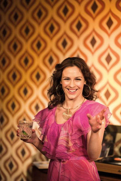 Roisin Gallagher plays Beverly in Mike Leigh's Abigail's Party at the MAC 14 Apr-5 May