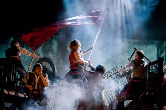 LES MISERABLES. Barricades 2 Photo by Michael Le Poer Trench. Copyright CML (1)