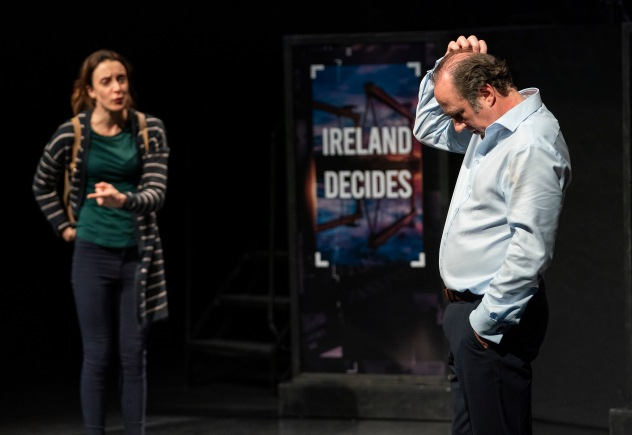 Maeve Fitzgerald and Lorcan Cranitch in Fishamble's THE ALTERNATIVE. Photo by Patrick Redmond. (2)