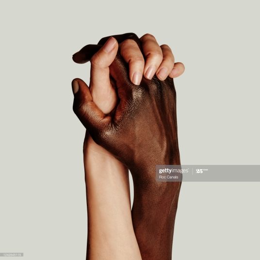 Black Lives Matter, Interracial couple holding hands